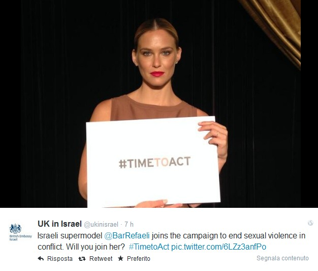 TIME TO ACT - Bar Refaeli