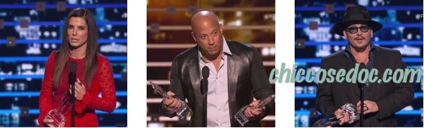 PEOPLE'S CHOICE AWARDS 2016 - Johnny Depp, Vin Diesel, Sandra Bullock