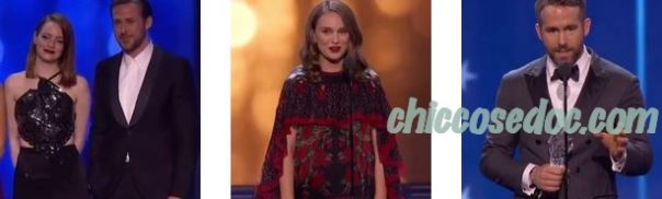 CRITICS' CHOICE AWARDS 2016 - Emma Stone e Ryan Gosling, Natalie Portman, Ryan Reynolds
