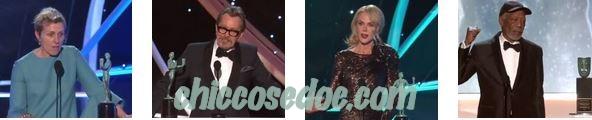 """SAG 2018"" - Frances McDormand, Gary Oldman, Nicole Kidman e Morgan Freeman"