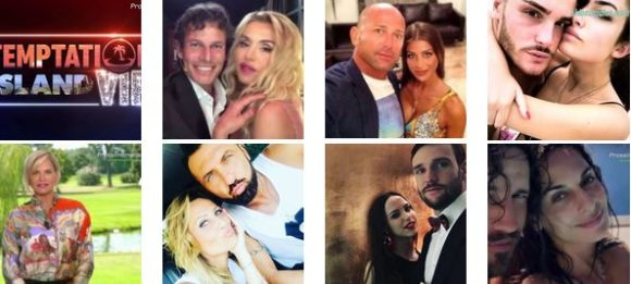 """""""TEMPTATION ISLAND VIP"""" - Simona Ventura ufficializza le 6 coppie che faranno parte del cast"""