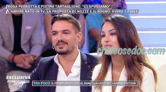 """U&D - Rosa Perrotta e Pietro Tartaglione, a """"Pomeriggio 5"""", rendono ufficiale la data delle loro nozze.."""