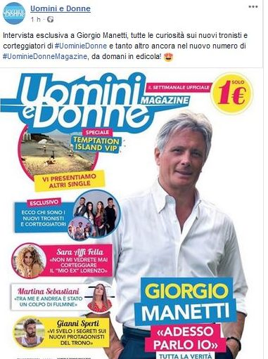 U&D - Sara Affi Fella dalla cover del magazine ufficiale del dating show