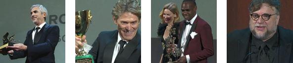 """""""MOSTRA DEL CINEMA DI VENEZIA"""" - Guillermo Del Toro, Naomi Watts e Willem Dafoe"""