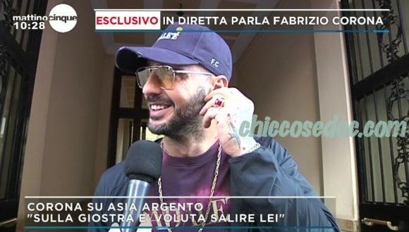 """""""MATTINO 5"""" - Asia Argento conferma la rottura dalle pagine de """"La Repubblica"""". E Fabrizio Corona, raggiunto in diretta, replica.."""