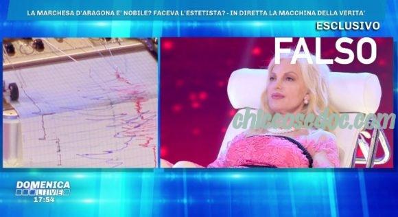 """""""DOMENICA LIVE"""" - La """"Marchesa"""" Daniela Del Secco d'Aragona alla prova della macchina della verità.."""