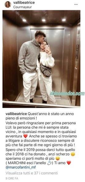 U&D - Marco Fantini e la fidanzata Beatrice Valli, con la figlia Bianca, a Courmayeur..