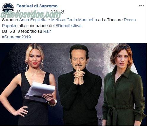 """""""DOPOFESTIVAL 2019"""" - Rocco Papaleo, Anna Foglietta e Melissa Greta Marchetto"""