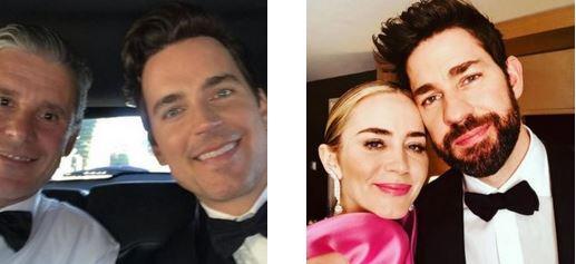 """""""SAG 2019"""" - Matt Bomer con il marito Simon Halls, Emily Blunt con il marito John Krasinski"""
