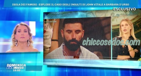"""""""DOMENICA LIVE"""" - Barbara d'Urso contro il """"galeotto"""" dell'""""Isola dei Famosi"""", John Vitale"""