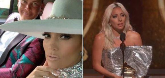"""GRAMMY AWARDS 2019"" - Jennifer Lopez ed Alex Rodriguez, Lady Gaga"