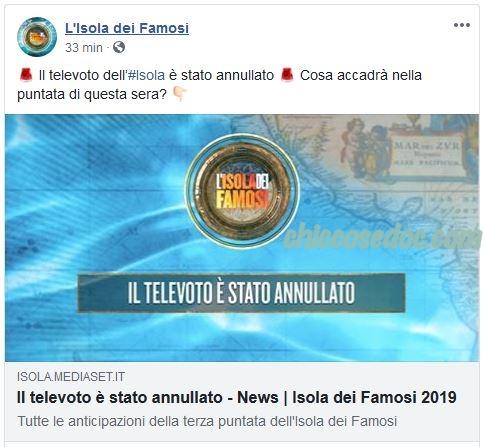 """""""ISOLA DEI FAMOSI 14"""" - Annullato il televoto fra i """"galeotti"""".."""