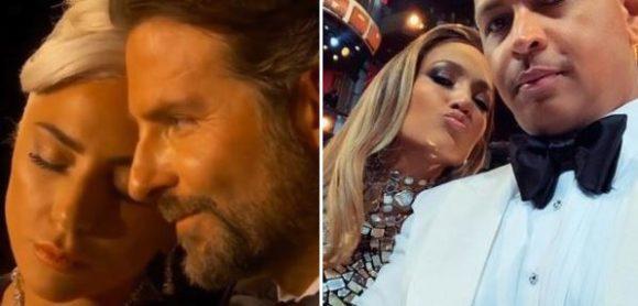 """OSCAR 2019"" - Bradley Cooper e Lady Gaga, Jennifer Lopez e Alex Rodriguez.."