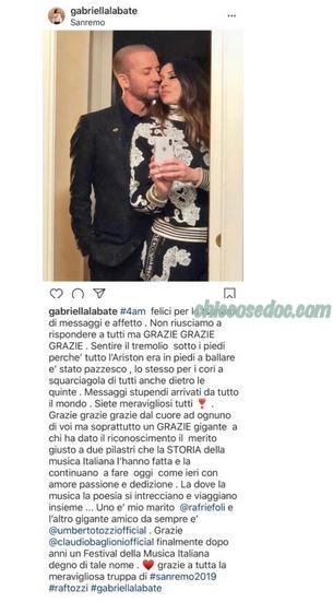 """""""SANREMO 2019"""" - Raf e la moglie Gabriella Labate.."""
