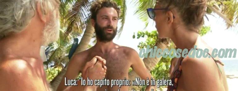 """ISOLA DEI FAMOSI 14"" - Marina La Rosa, incalzata da Luca Vismara affronta Riccardo Fogli che sbotta.."