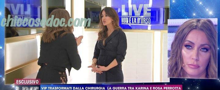 """""""LIVE - NON E' LA D'URSO"""" - Karina Cascella vs Rosa Perrotta"""