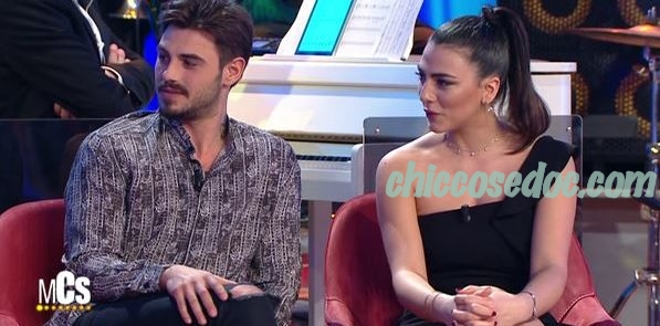 """""""MAURIZIO COSTANZO SHOW"""" - Francesco Monte e la fidanzata Giulia Salemi.."""