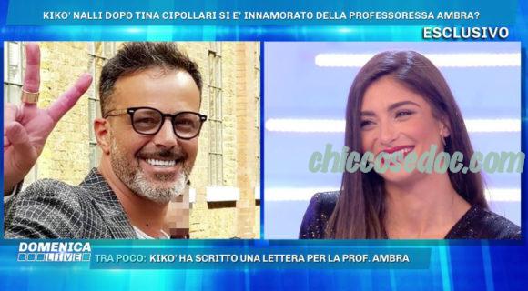 """""""GF 16"""" - Ambra Lombardo, a """"Domenica Live"""", dichiara il proprio interesse per Chicco Nalli.."""