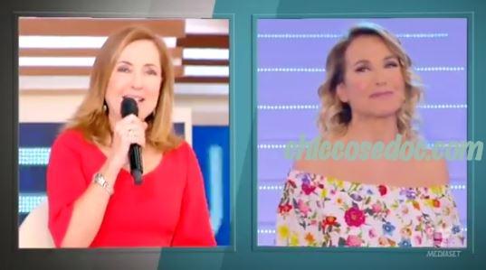 """""""GF 16"""" - Barbara d'Urso commenta con Barbara Palombelli la partecipazione al reality della figlia Serena.."""