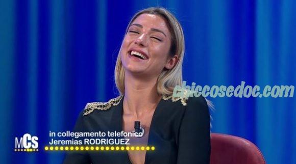 """""""MAURIZIO COSTANZO SHOW"""" - Soleil Sorgè al telefono con Jeremias Rodriguez.."""