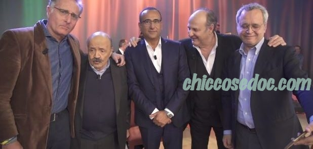 """""""MAURIZIO COSTANZO SHOW"""" - Paolo Bonolis, Maurizio Costanzo, Carlo Conti, Gerry Scotti ed Enrico Mentana.."""