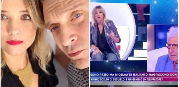 """""""LIVE - NON E' LA D'URSO"""" -  Francesca Barra, attaccata sulla fisicità da Alberico Lemme, rivela la dolce attesa dal marito Claudio Santamaria.."""