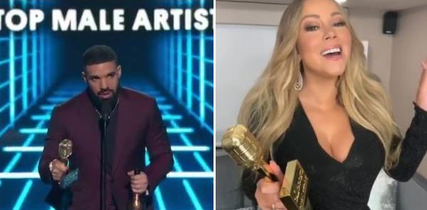"""BILLBOARD MUSIC AWARDS 2019"" - Record di riconoscimenti per Drake. A Mariah Carey il prestigioso ""Icon Award"".."