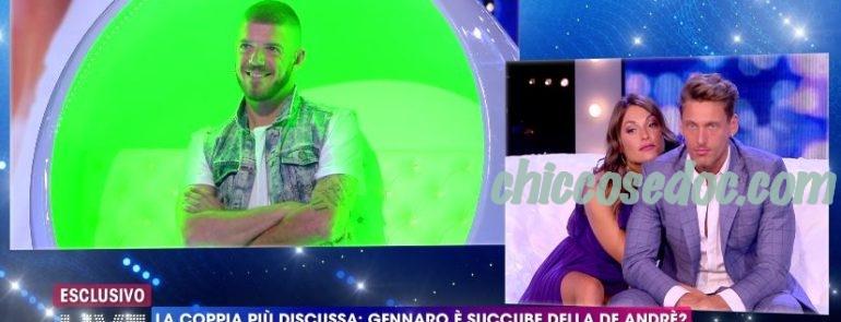 """""""GF 16"""" - A""""Live - Non è la d'Urso"""", Francesca De Andrè e Gennaro Lillio di nuovo a confronto con l'ex di lei, Giorgio Tambellini.."""