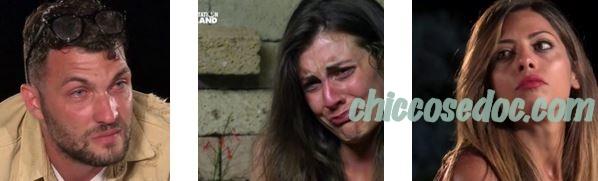 """""""TEMPTATION ISLAND 6"""": JESSICA BATTISTELLO RIFIUTA IL FALO' DI CONFRONTO IMMEDIATO RICHIESTO DAL FIDANZATO ANDREA FILOMENA. MA ANCHE NUNZIA SANSONE FA CONVOCARE ANTICIPATAMENTE IL FIDANZATO ARCANGELO BIANCO.."""
