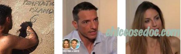 """""""TEMPTATION ISLAND 6"""" - David Scarantino e Cristina Incorvaia, dal """"Trono Over"""" la quinta coppia in gioco.."""