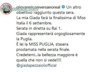 """MISS ITALIA 2019"" - Giovanni Conversano"
