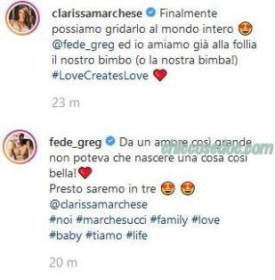 U&D - Clarissa Marchese ed il marito Federico Gregucci svelano la dolce attesa di lei..