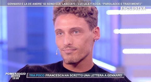 """""""GF 16"""" - Gennaro Lillio, tornato a """"Pomeriggio 5"""" sulla rottura con Francesca De Andrè, ha esternato.."""