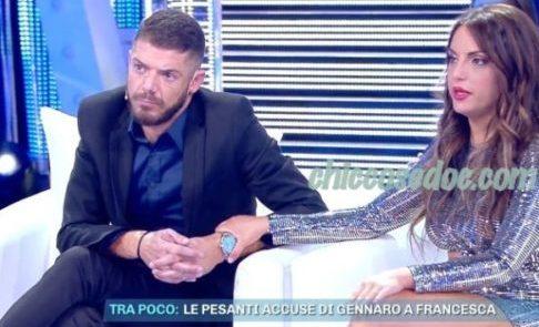 """""""GF 16"""" - A """"Domenica Live"""", Francesca De Andrè torna in studio con l'ex, non più ex, Giorgio Tambellini.."""