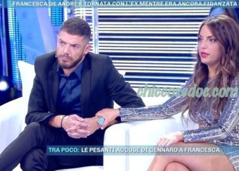 """""""GF 16"""": A """"DOMENICA LIVE"""", FRANCESCA DE ANDRE' TORNA IN STUDIO CON L'EX, NON PIù EX, GIORGIO TAMBELLINI.. """"SIAMO ANCORA INNAMORATI ED ANCHE PIù DI PRIMA"""". E CONTRO LA SORELLA FABRIZIA HA SOLLEVATO L'ACCUSA DI ESSERE CADUTA IN UN TRANELLO.."""