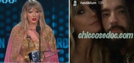 """AMERICAN MUSIC AWARDS 2019"" - Taylor Swift, Heidi Klum ed il marito Tom Kaulitz"
