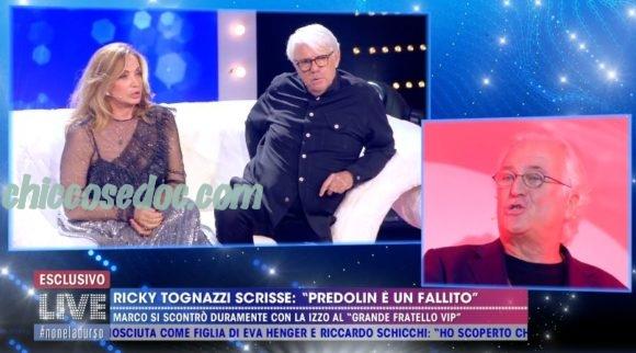 """""""LIVE – NON E' LA D'URSO"""" - Simona Izzo ed il marito Ricky Tognazzi.. nel due contro tutti.. allo scontro, poi rientrato, con Marco Predolin.."""