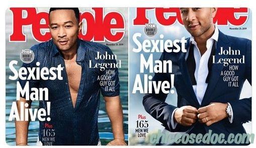 """John Legend eletto da """"People"""" l'""""uomo più sexy del 2019"""".."""