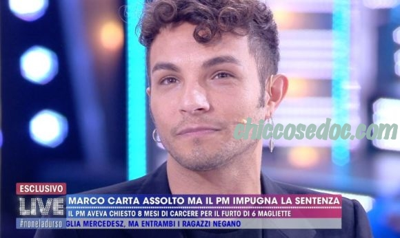 """""""LIVE - NON E' LA DURSO"""" - Marco Carta"""