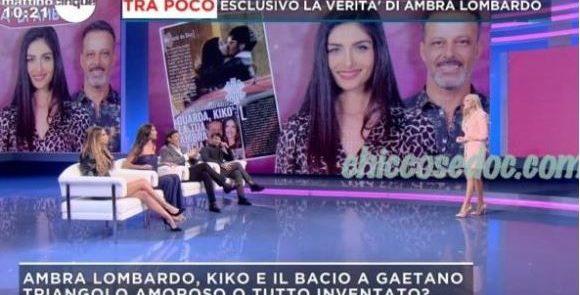 """""""MATTINO 5"""" - La versione di Ambra Lombardo sul presunto bacio tra lei e Gaetano Arena.."""