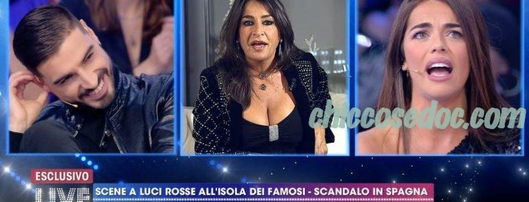 """""""LIVE - NON E' LA D'URSO"""" - Fabio Colloricchio e la fidanzata Violeta Mangrinan. E scatta la lite a distanza con Aida Nizar.."""