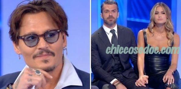 """""""C'E' POSTA PER TE"""" - Johnny Depp, Luca Argentero e la fidanzata Cristina Marino ospiti"""