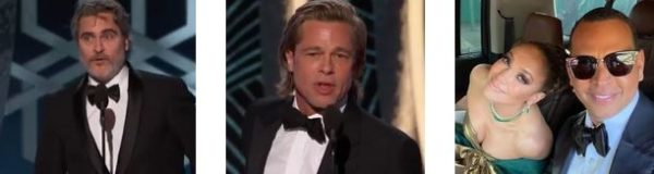 """GOLDEN GLOBES 2020"" - Joaquin Phoenix, Brad Pitt, Jennifer Lopez ed Alex Rodriguez.."