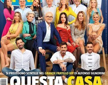 """""""GRANDE FRATELLO VIP 4"""" - I nomi ancora mancanti nel cast dalla copertina del nuovo """"Tv Sorrisi e Canzoni"""".."""