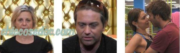 """""""GRANDE FRATELLO VIP 4"""" - I """"Confessionali"""" di Antonella Elia e Patrick Ray Pugliese in vista della puntata. E l'abbraccio distensivo fra Clizia Incorvaia e Paolo Ciavarro.."""