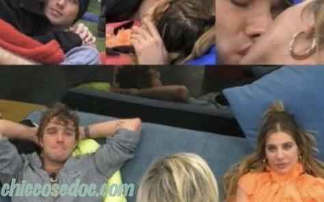"""""""GRANDE FRATELLO VIP 4"""" - Paolo Ciavarro e Clizia Incorvaia si abbandonano al primo, lunghissimo, bacio nella notte. E Antonella Elia.."""