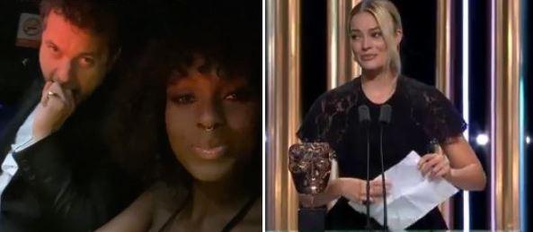"""BAFTA 2020"" - Joshua Jackson e Jodie Turner-Smith sul tappeto rosso"
