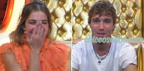 """""""GRANDE FRATELLO VIP 4"""" - Clizia Incorvaia e Paolo Ciavarro, emozionati, in """"Confessionale"""" dopo il lungo bacio.."""