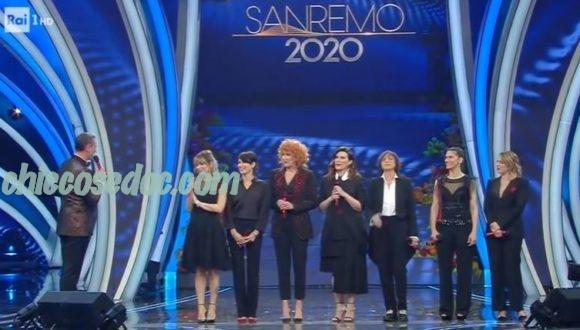"""""""SANREMO 2020"""" - Alessandra Amoroso, Giorgia, Fiorella Mannoia, Laura Pausini, Gianna Nannini, Elisa, Emma Marrone sul palco dell'""""Ariston"""".."""