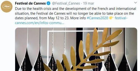 """""""FESTIVAL DI CANNES 2020"""" - Posticipato a data da definirsi.."""